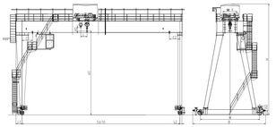 новый козловой кран двухбалочный кран бесконсольный A32/5